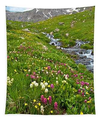 Handie's Peak And Alpine Meadow Tapestry