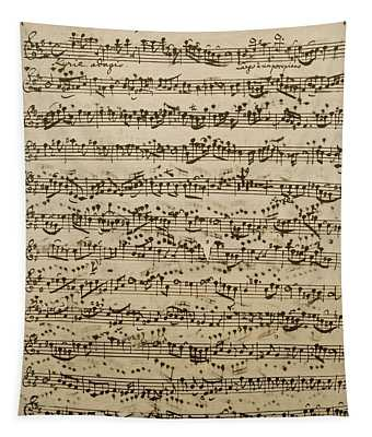Handwritten Score For Mass In B Minor Tapestry