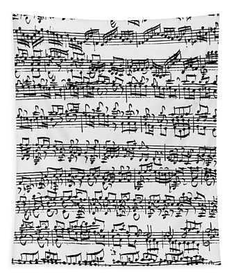 Handwritten Score Of Sonata No 1 For Solo Violin Tapestry
