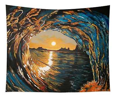 Hang Ten In Tofino Tapestry