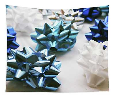Hanukkah Bows- Photography By Linda Woods Tapestry