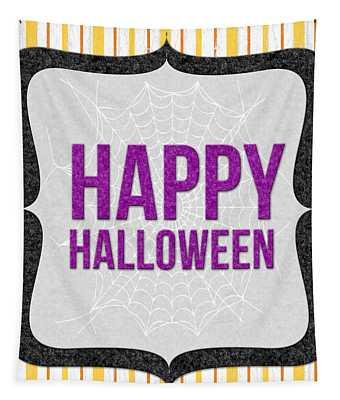 Happy Halloween-art By Linda Woods Tapestry