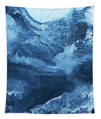 Harmonious Blues- Art By Linda Woods Tapestry