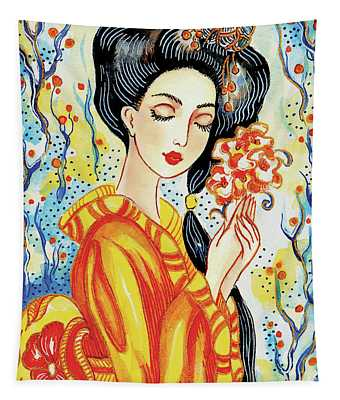 Harmony Flower Tapestry