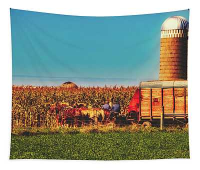 Harvest In Amish Country - Elkhart County, Indiana Tapestry