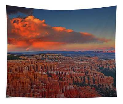 Harvest Moon Over Bryce National Park Tapestry