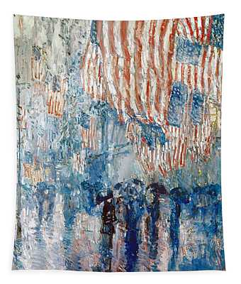 Tapestry featuring the photograph Hassam Avenue In The Rain by Granger