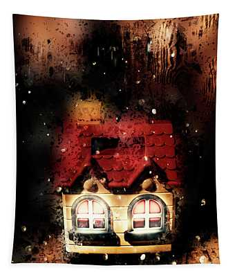 Haunted Doll House Tapestry