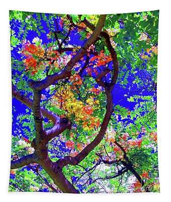 Hawaii Shower Tree Flowers Tapestry