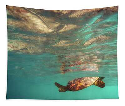 Hawaiian Turtle Tapestry