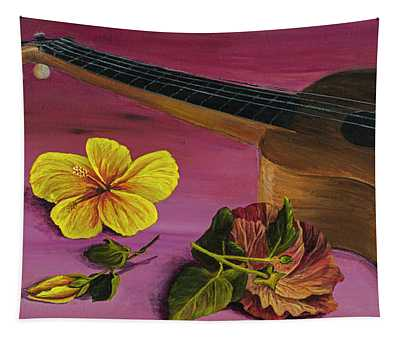 Hawaiian Ukulele Tapestry