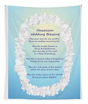 Hawaiian Wedding Blessing Tapestry