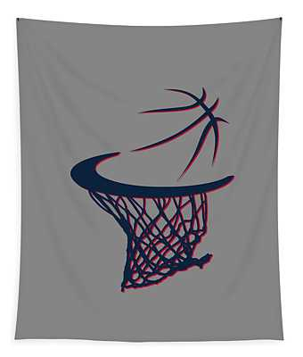 Hawks Basketball Hoop Tapestry