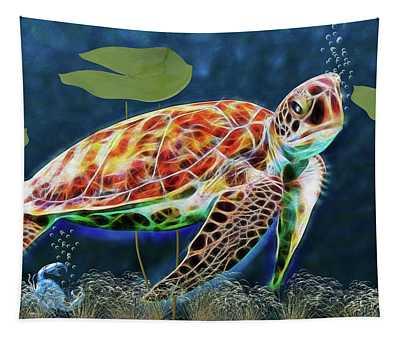Hawksbill Sea Turtle Tapestry