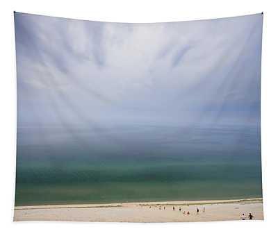 Hazy Day At Sleeping Bear Dunes Tapestry