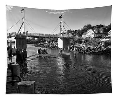 Heading To Sea - Perkins Cove - Maine Tapestry