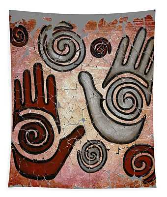 Healing Hands Fresco  Tapestry