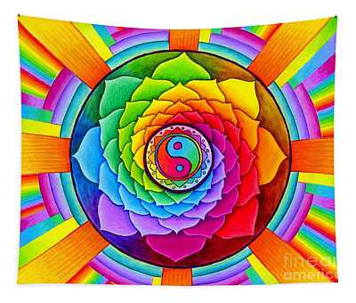 Healing Lotus Tapestry