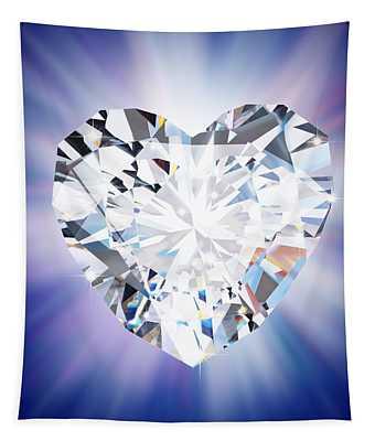Heart Diamond Tapestry