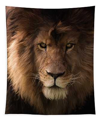 Heart Of A Lion - Wildlife Art Tapestry