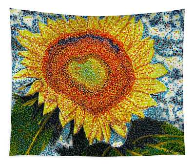 Heart Of A Sunflower Tapestry