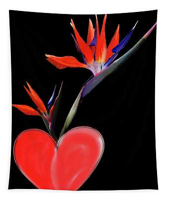 Heart  Of Paradise Tapestry