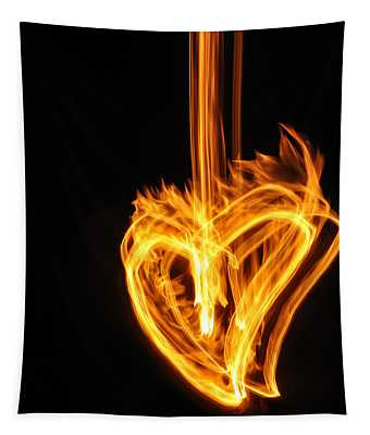 Hearts Aflame -falling In Love Tapestry