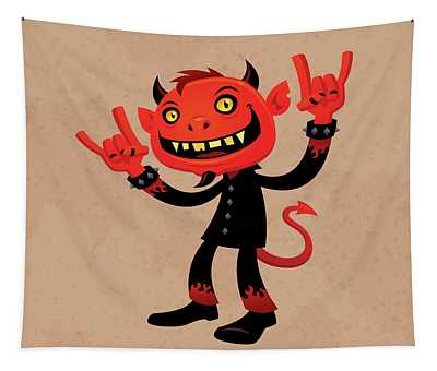 Heavy Metal Devil Tapestry