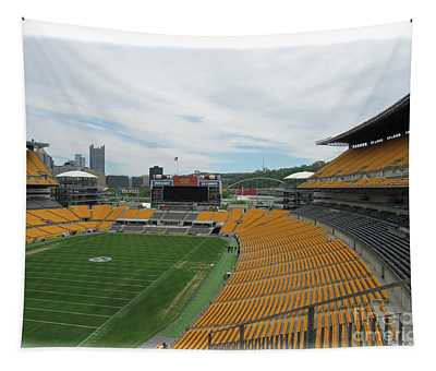 Heinz Stadium With Pittsburgh Skyline Tapestry