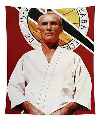 Helio Gracie - Famed Brazilian Jiu-jitsu Grandmaster Tapestry