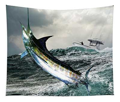 Hemingway's Marlin, The Old Man And The Sea, Fish On Tapestry