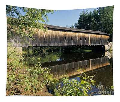 Hemlock Covered Bridge - Fryeburg Maine Usa. Tapestry