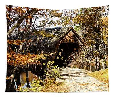 Henniker Covered Bridge New Hampshire Tapestry