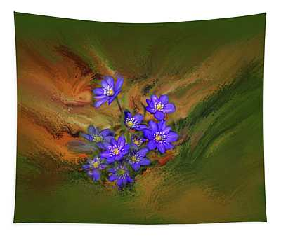 Hepatica Nobilis Painterly #h4 Tapestry