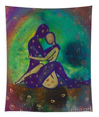 Her Loves Embrace Divine Love Series No. 1006 Tapestry