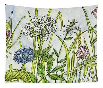 Herbs And Flowers Tapestry