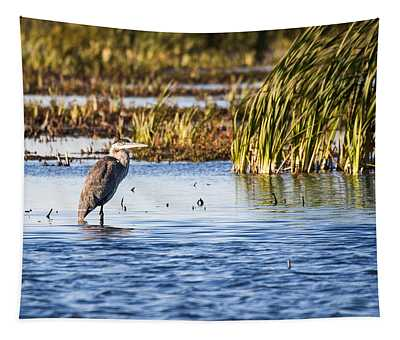 Heron - Horicon Marsh - Wisconsin Tapestry