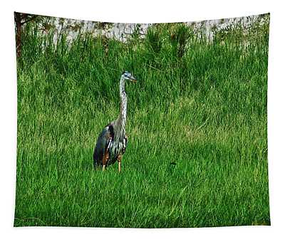 Heron In The Grasses Tapestry