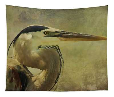 Heron On Texture Tapestry