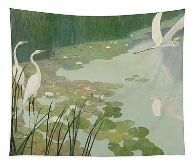 Herons In Summer Tapestry