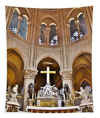 High Alter Notre Dame Cathedral Paris France Tapestry