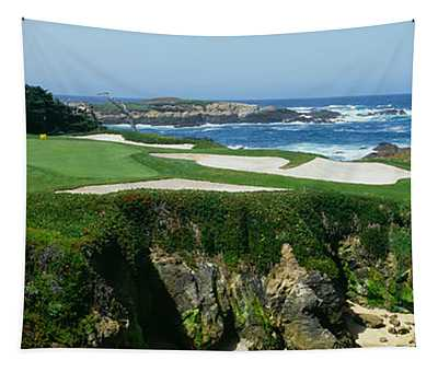 High Angle View Of A Golf Course Tapestry