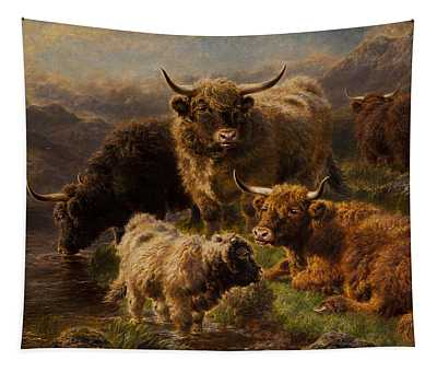 Highland Cattle Tapestry