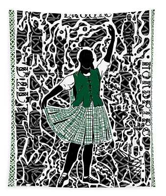 Highland Dancing Tapestry
