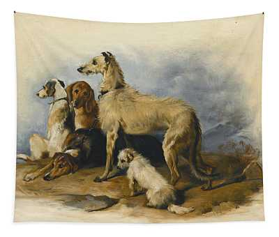 Highland Dogs Tapestry