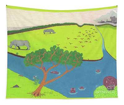 Hippo Awareness Tapestry