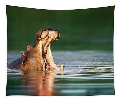 Hippopotamus Tapestry