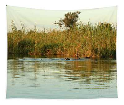 Hippos, South Africa Tapestry