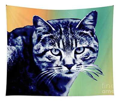 Hipster Cat  Pop Art Tapestry