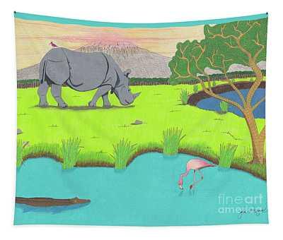 His Backward Glance Tapestry